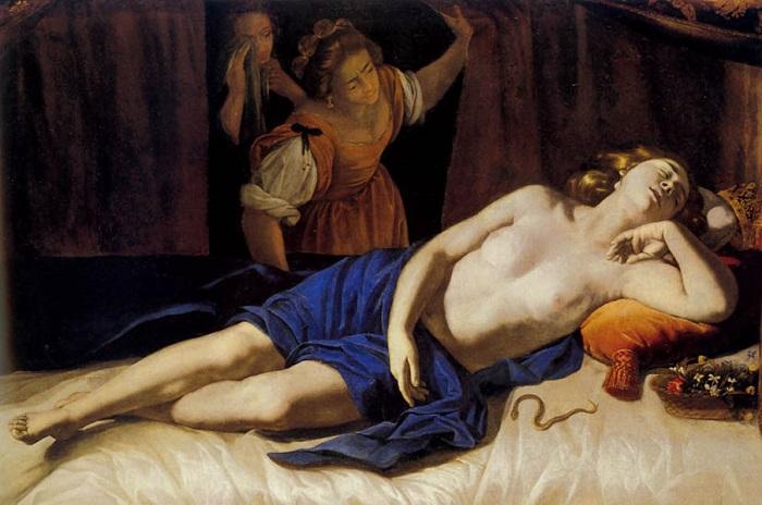 Клеопатра. А. Джентилески, 1627 год. | Фото: gallart.by.