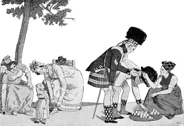 Курьезная картинка о любопытных дамах и шотландцах. | Фото: katja-travels-india.de.