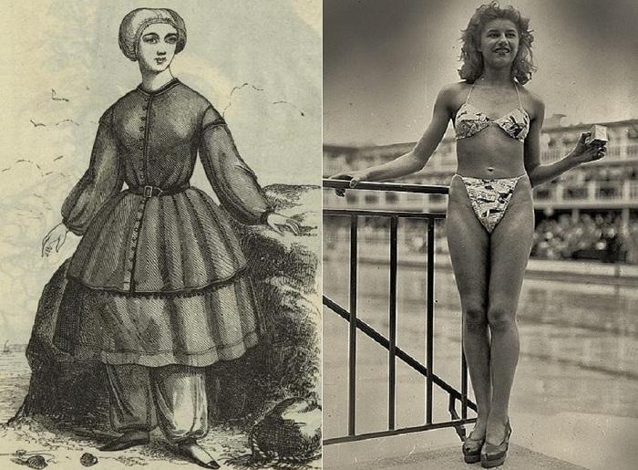 Эволюция купального костюма.