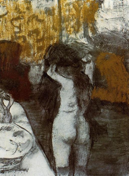 После купания. Эдгар Дега, 1877 год.