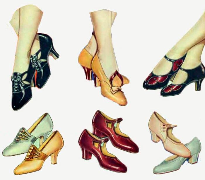 Туфли, популярные в эпоху 1920-х годов.   Фото: mylitta.ru.
