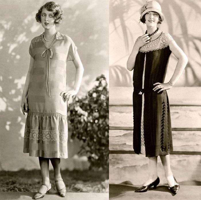 Популярные женские силуэты 1920-х годов.   Фото: izuminki.com.