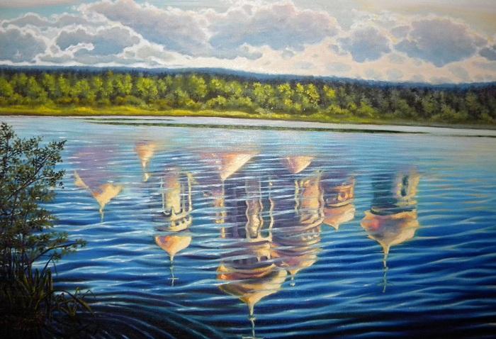 Китеж - город на дне озера.