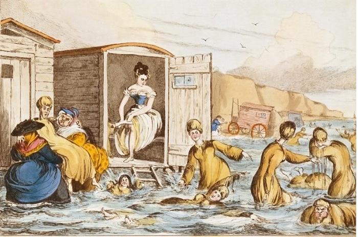 В 19 веке в Европе были популярные купальные машины.   Фото: diletant.media.