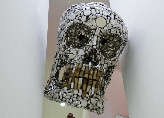 Арт-инсталляция индийского мастера Subodh Gupta