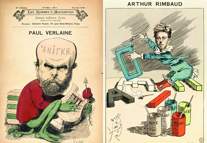 Карикатура на французских поэтов. | Фото: biography.wikireading.ru.