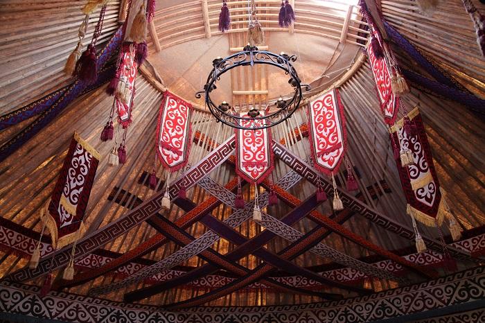 Шанырак - деревянный обод, котоый образует потолок. | Фото kz.all.biz.
