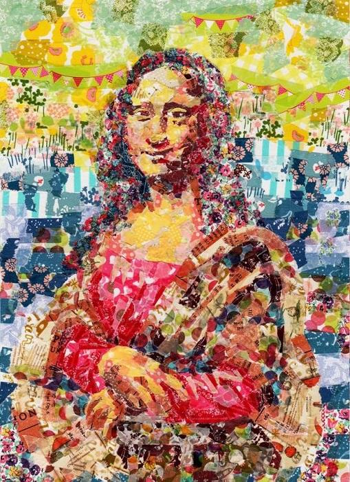 «Мона Лиза» Леонардо да Винчи, сделанная из кусочков клейкой ленты.