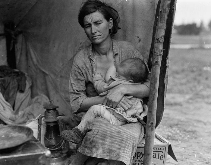 «Мать-переселенка» (Migrant mother). | Фото: mashable.com.