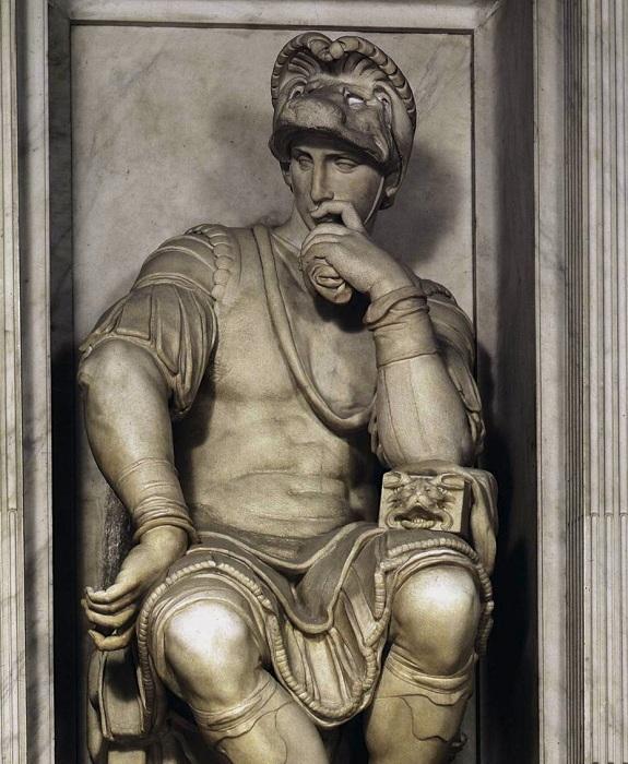 «Мыслитель» Микеланджело. Статуя Лоренцо Медичи (1526-1531 гг).