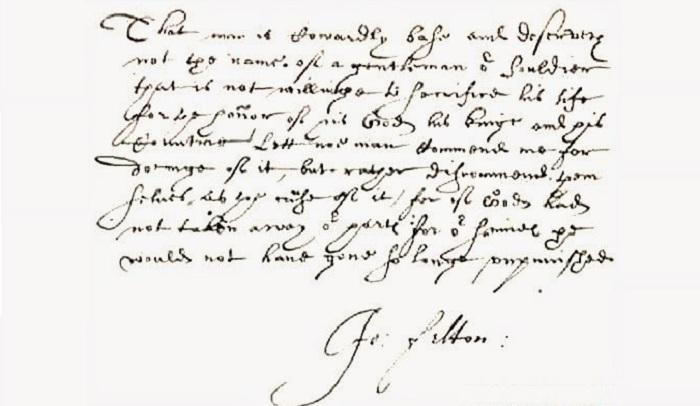 Записка Фельтона о намерении убить герцога Бекингема. | Фото: faculty.history.wisc.edu.