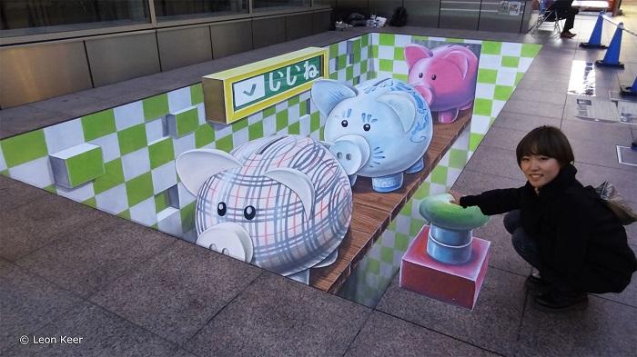 Творчество уличного художника Leon Keer.