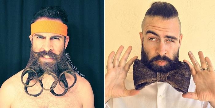 Оригинальные прически из бороды.