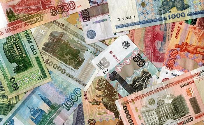 Российские и белорусские рубли. | Фото: img.anews.com.