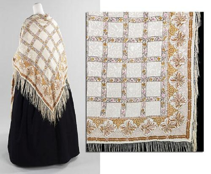 Французская шаль 1840-х годов.