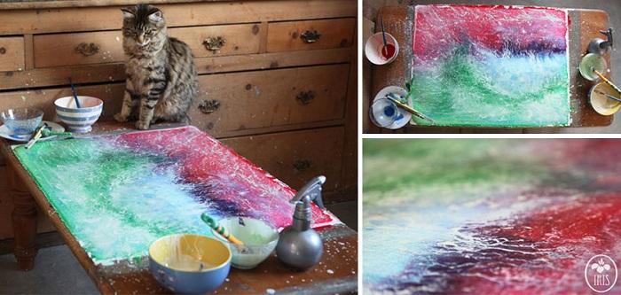 Удивительные картины, созданные маленькой девочкой.