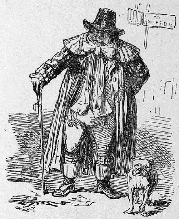 Английский дворянин, направляющийся на Смитфилдовский рынок, чтобы продать свою жену.   Фото: aloban75.livejournal.com.