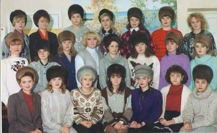 Шапка из норки - почти что культ в России 90-х.
