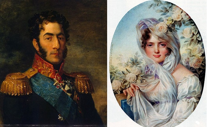 Генерал Петр Иванович Багратион и его супруга Екатерина Скавронская. | Фото: subscribe.ru.