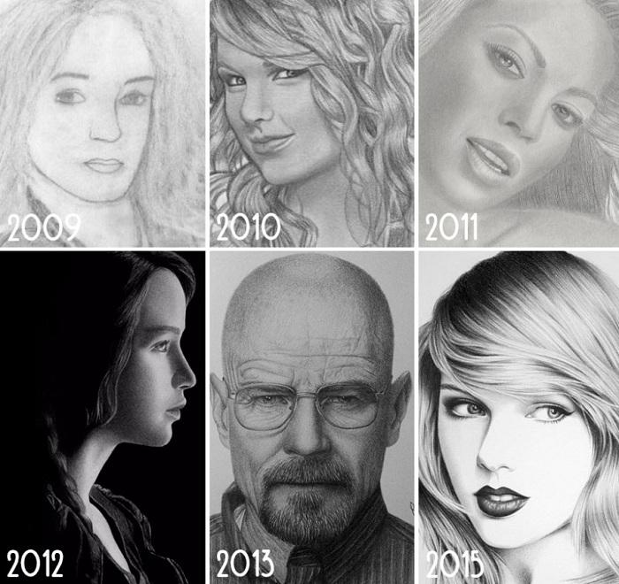 Эволюция в области рисования пользователя Ray Sampang.