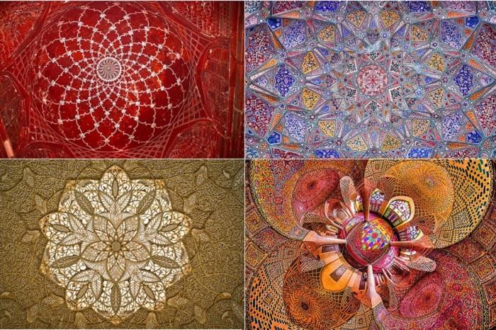 Самые красивые потолки в исламских мечетях.