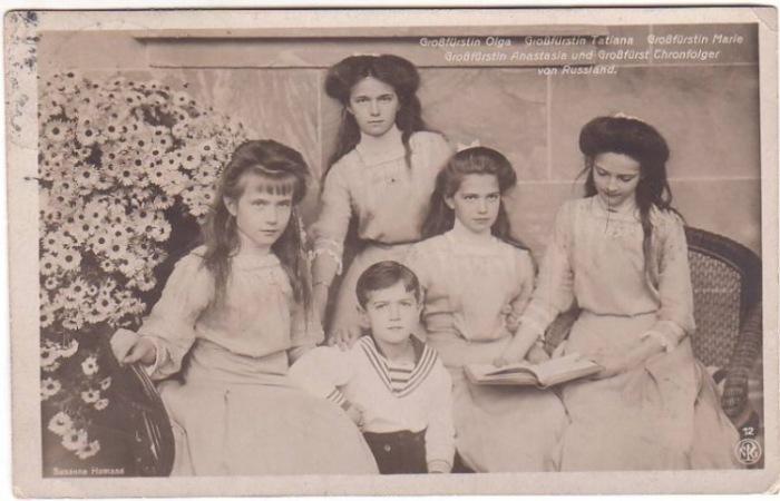 Татьяна, Ольга, Мария, Анастасия и Алексей Романовы. | Фото: data2.i.gallery.ru.