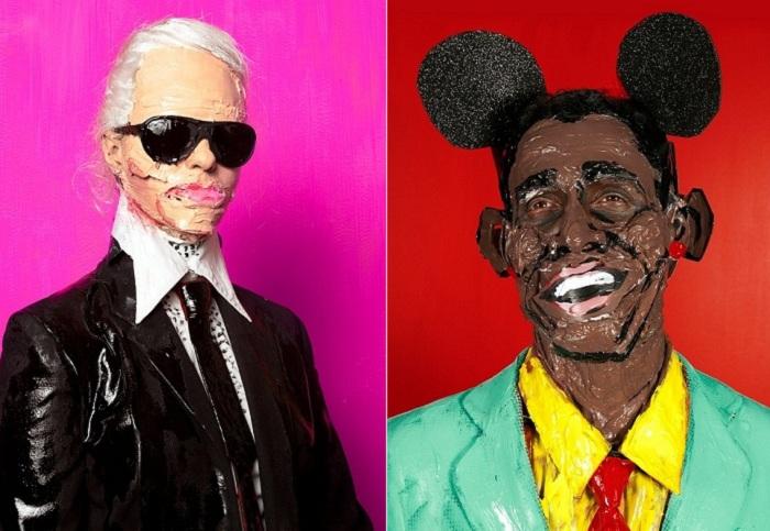 «Paint + plastic surgery» - пародия на мировых знаменитостей.
