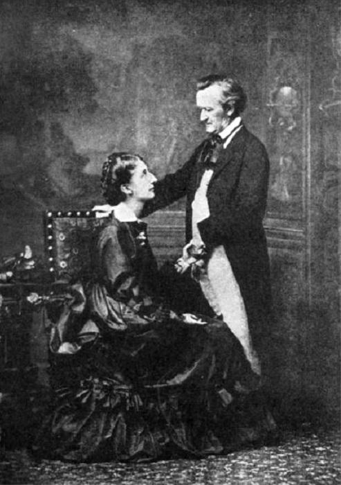 Козима и Рихард Вагнер.