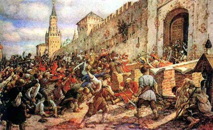 Соляной бунт, во время которого был убит Леонтий Плещеев. | Фото: img0.liveinternet.ru.