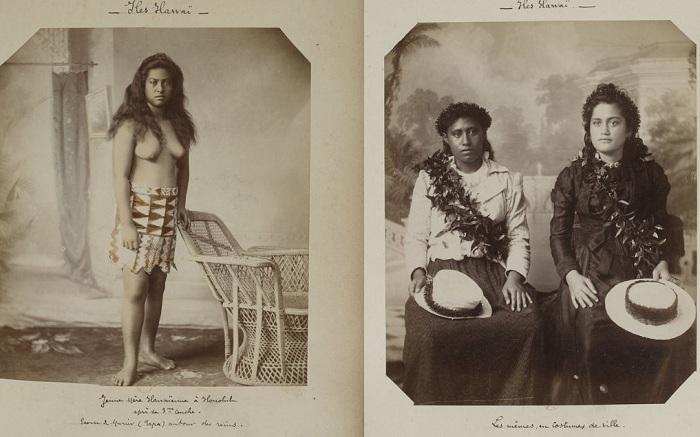 Смешение стилей в одежде на Гавайях в конце 19 века.