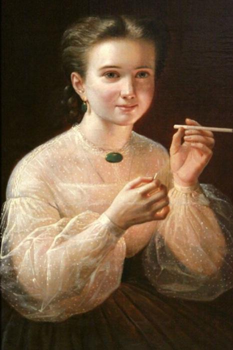 «Девушка с папиросой», Петр Заболотский.