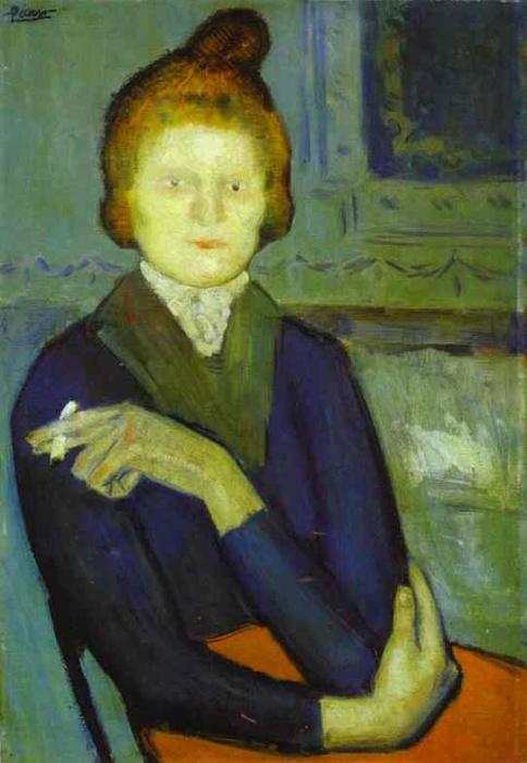«Молодая женщина с сигаретой», Пабло Пикассо.