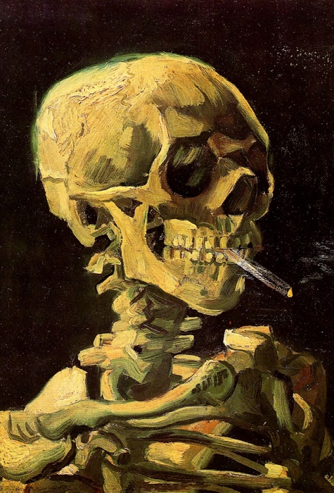 «Череп с сигаретой», Ван Гог.