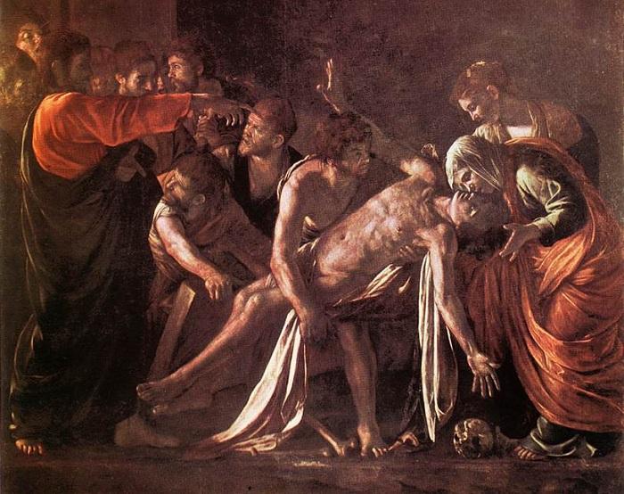 Воскрешение Лазаря. Караваджо, 1609 г. | Фото: seckim.com.