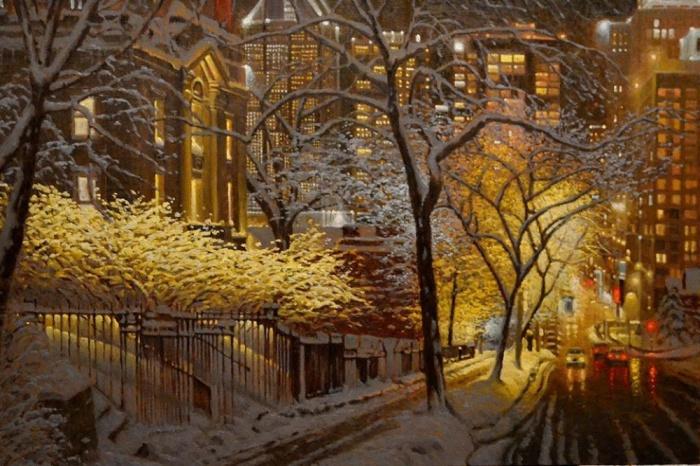 «Душевная» пастель от канадского художника.