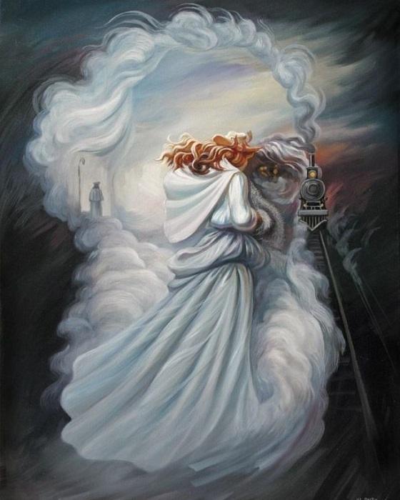 Образ Льва Толстого. Оптическая иллюзия.