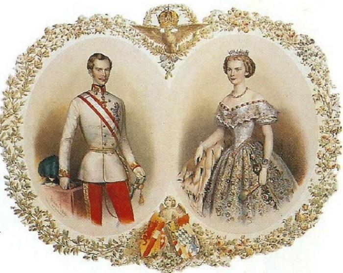 Любовный союз Франца Иосифа и Елизаветы Баварской.