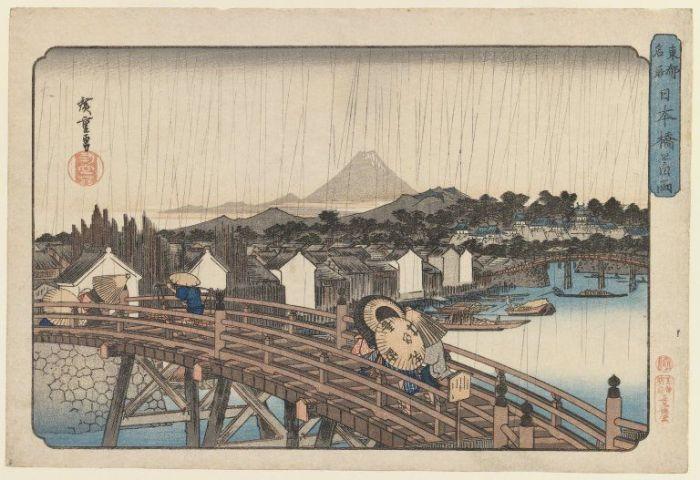 Изображение Токио  в 1868 году. | Фото: jeodot.com.