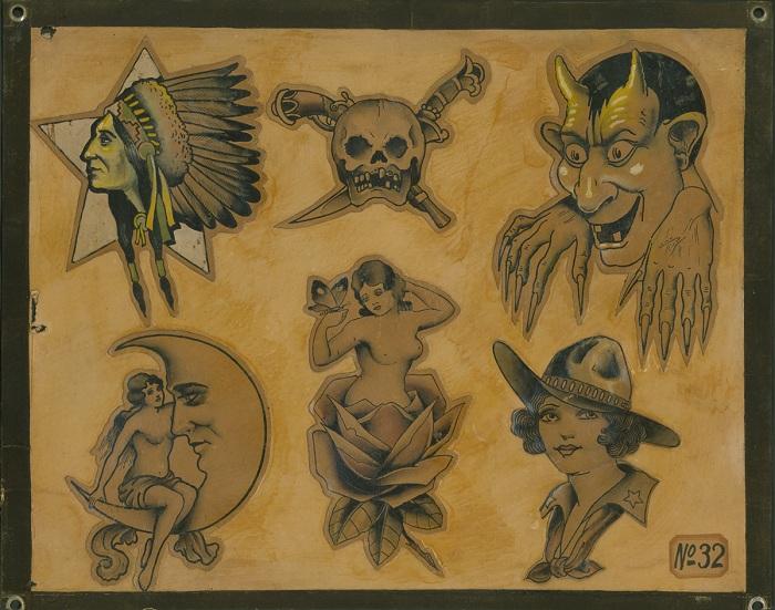 Популярные сюжеты для татуировок 1930-х гг.