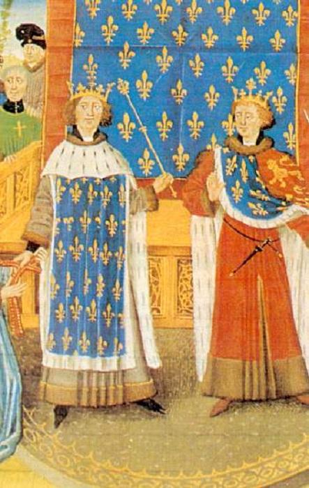 Филипп II Август и Ричард Львиное Сердце.