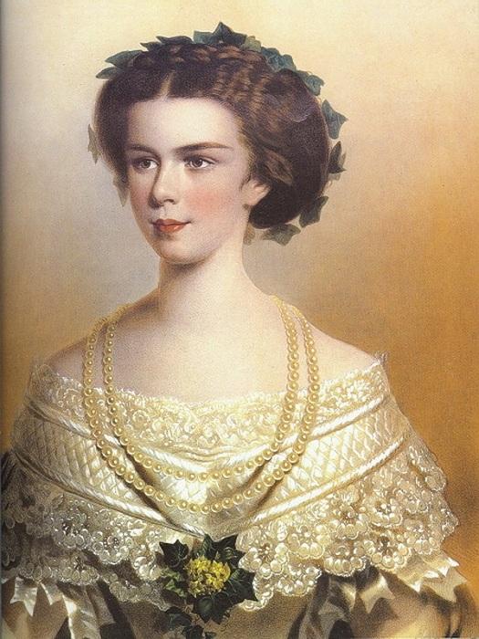 Елизавета Баварская - будущая императрица Австрии.