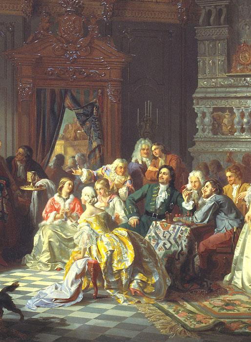 Ассамблеи при Петре I. | Фото: pic-se.ru.