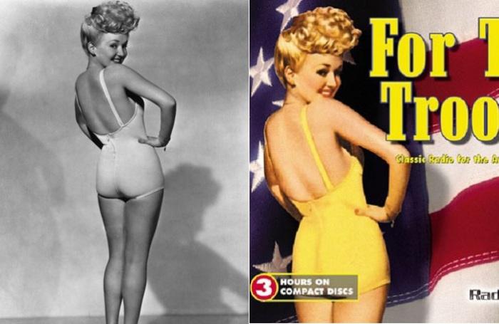 Betty Grable - самая знаменитая пинап-девушка 1940-х гг.