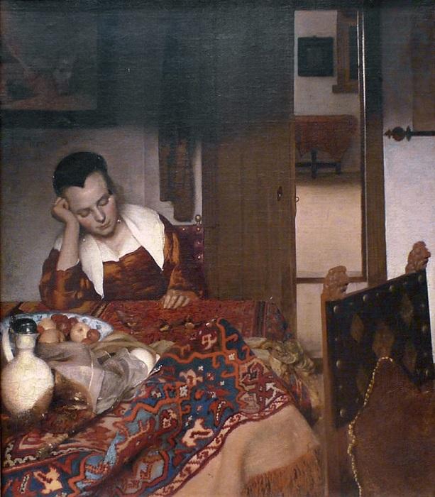 Горничная спит. Ян Вермеер, 1656-1657 гг. | Фото: news.artnet.com.