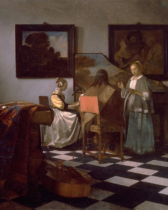 Концерт. Ян Вермеер, ок. 1663-1666 гг.| Фото: news.artnet.com.
