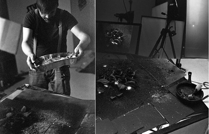 «The Ash». Работа над композицией из пепла.