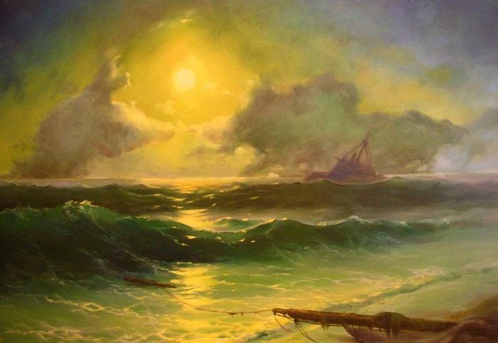 Айвазовский писал свои картины по памяти.