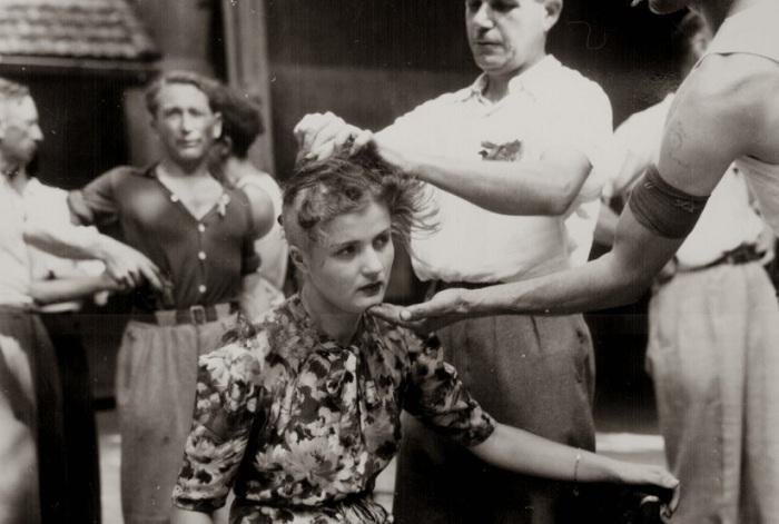 Француженкам сбривали волосы на голове за связи с нацистами.