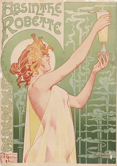 Плакат с рекламой абсента, 1896 год. | Фото: allday.com.