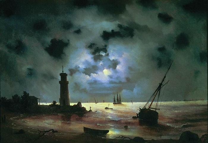 Берег моря ночью, 1837 год